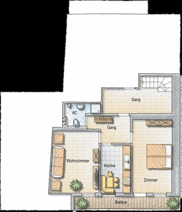 Grundriss Wohnung Dolomitenblick
