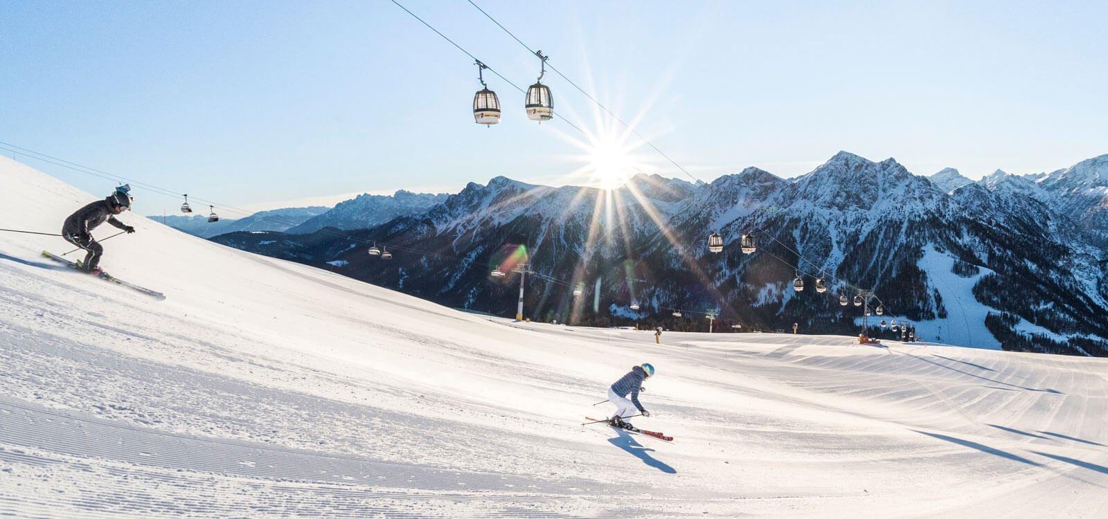 Unsere Skipisten im Gsiesertal und im Skigebiet Kronplatz